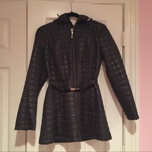 Kate Spade New York Quilted Belted Long Coat NWOT